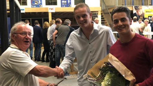 Diploma-uitreiking Rico en Tim